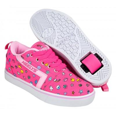Heelys Gr8 Pro Prints Hot Pink/Light Pink/Emoji