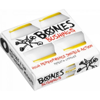 Bones Wheels Bushing 91a Hard Hardcore - Yellow/White