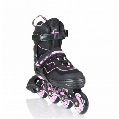 Inferno Adjustable Inline Skates - Pink