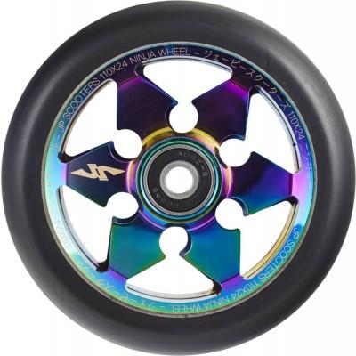 JP Ninja 6-Spoke Pro Scooter Wheel 110mm - Neochrome