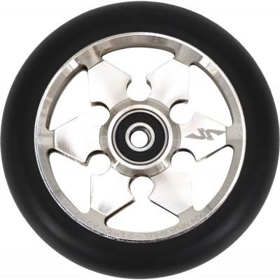 JP Ninja 6-Spoke Pro Scooter Wheel 110mm - Silver
