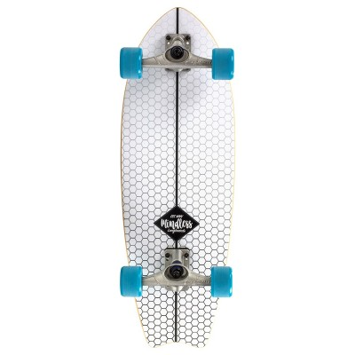 Mindless Surf Skate Fish Tail Complete Cruiser - White