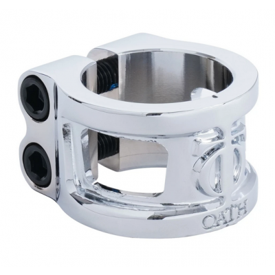 Oath Cage V2 Alloy 2 Bolt Scooter Clamp - Neo Silver