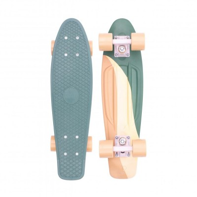 "Penny Cruiser Swirl  22"" - Green/Yellow"