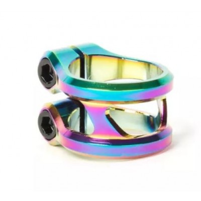 Ethic DTC Sylphe Double Clamp 31.8 mm -Rainbow