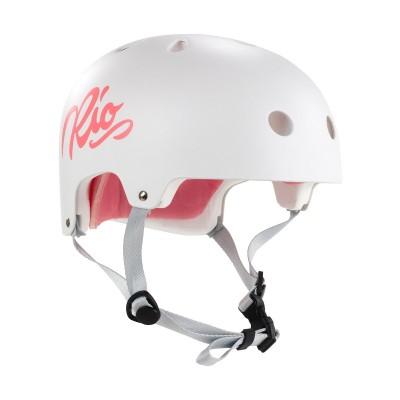 Rio Roller Script Helmet - Matt White