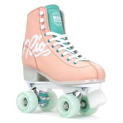 Rio Roller Script Quad Skates - Peach/Green