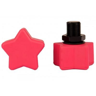 """Rookie Toestop Star Adjustable (2 PK) 5/8"""" - Pink"""