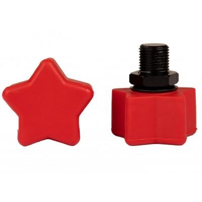 """Rookie Toestop Star Adjustable (2 PK) 5/8"""" red"""