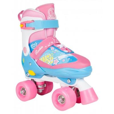 Rookie Fab Adjustable Quad Roller Skates - Blue/Pink