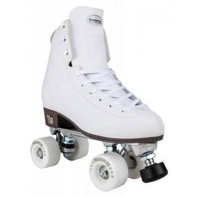 Rookie Artistic Quad Roller Skates - White