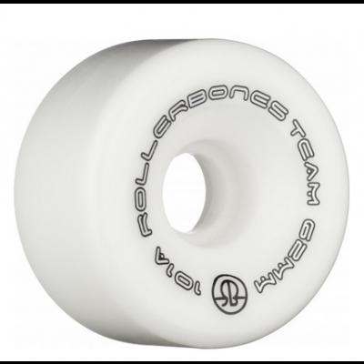 Rollerbones Team Logo 62mm 101A 8pk Wheels - White
