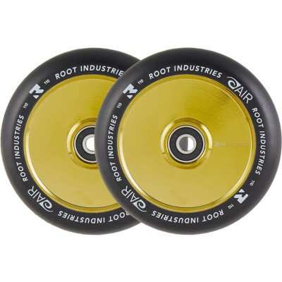 Root Air Pro Scooter Wheels 110mm - Black/Gold Rush