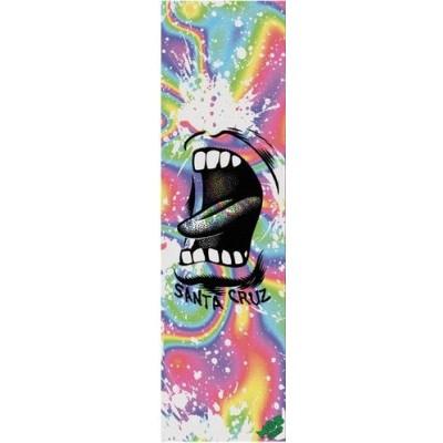 MOB Graphic Santa Cruz Big Mouth Splatter Skateboard Griptape