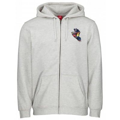 Santa Cruz Zip Hood Primary Hand Zip Hoodie - Athletic Heather