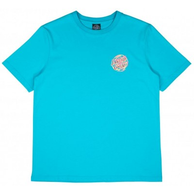 Santa Cruz Women's Tattered Dot T-Shirt - Aqua