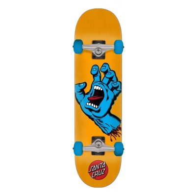 Santa Cruz Screaming Hand Complete Skateboard - Orange 7.5""