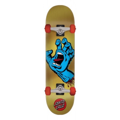 Santa Cruz Screaming Hand Complete Skateboard - Gold/Blue 7.75""
