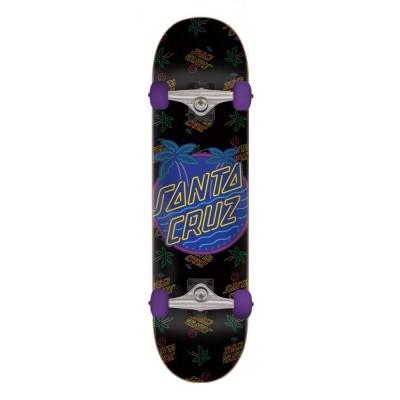 "Santa Cruz Glow Dot Complete Skateboard - 7.8"""