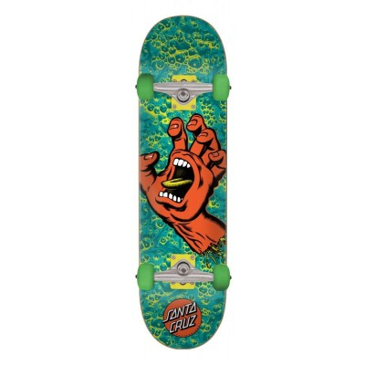 Santa Cruz Screaming Hand Foam Complete Skateboard - Green/Orange 8""