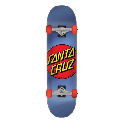 "Santa Cruz Classic Dot Complete Skateboard - Blue 8"""