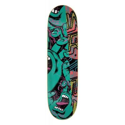 "Santa Cruz Everslick No Pattern Hand Skateboard Deck Green - 8.5"""