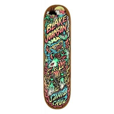 "Santa Cruz Johnson Beach Wolf Two Pro Skateboard DeckMulti - 8.375"""