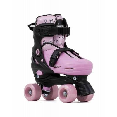 SFR Nebula Adjustable Quad Roller Skates Black/Pink
