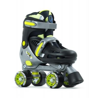 SFR Hurricane III Adjustable Quad Roller Skates - Black/Yellow