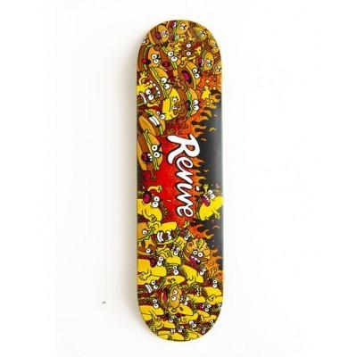 "revive Infoodity Wars Skateboard Deck - 7.5"""