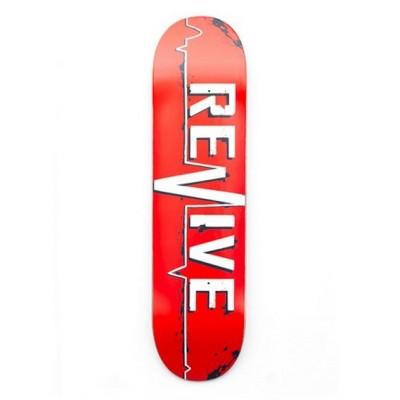 """Revive Red Lifeline Skateboard  Deck - 7.5"""""""