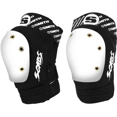 Smith Scabs Safety Gear Elite Knee Pads - Black/White