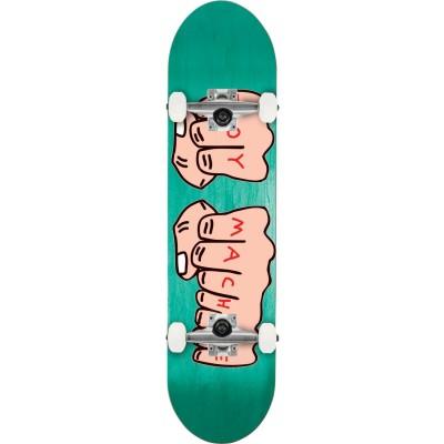 TM Fists Woodgrain Complete Skateboard 7.75
