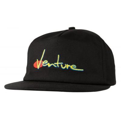 Venture Snapback Cap 90S - Black
