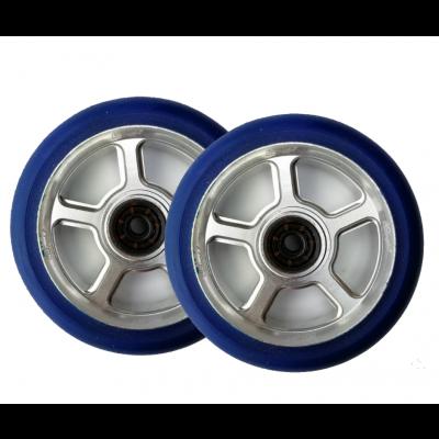 UrbanArtt S5 Scooter  Wheels 110mm (Pair) - Blue/Chrome