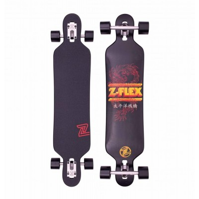 "Z-Flex Dragon Drop Through Longboard 41"" - Black"