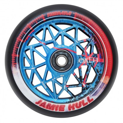 Oath Lattice Jamie Hull Signature  Scooter Wheel - Red/Blue 110mm