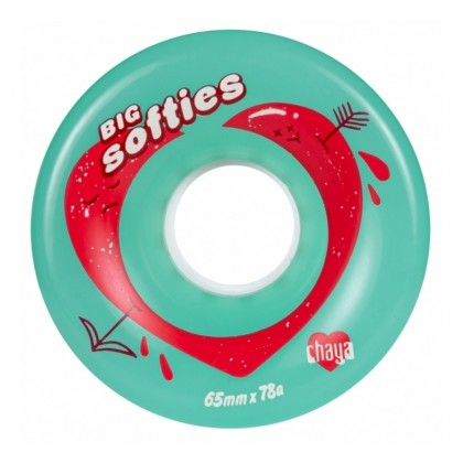 Chaya Big Softie`s Clear Outdoor Roller Skate Wheels - Teal