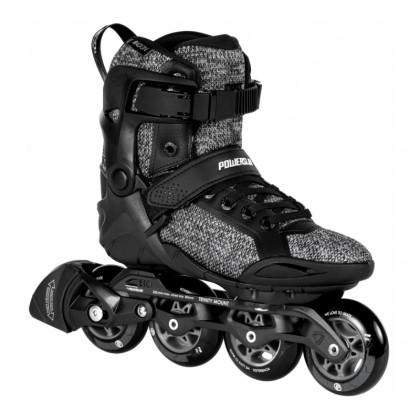 Powerslide SMU Phuzion Radon Black White 80 Inline Skates