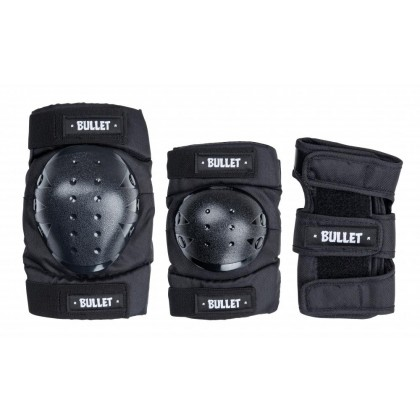 Bullet Standard Combo Adult Triple Pad Set - Black
