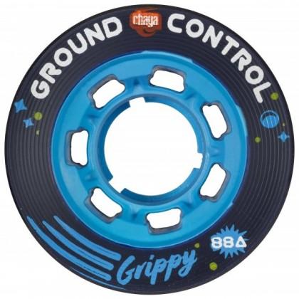 Chaya Ground Control Grippy Blue Roller Derby Wheels - 4-Pack