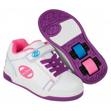 Heelys Dual Up X2 (HE100147) - White/Purple/Neon Multi