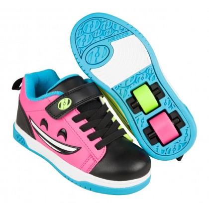 Heelys Dual Up X2 (HE100788) - Black/Hot Pink/Cyan/Yellow