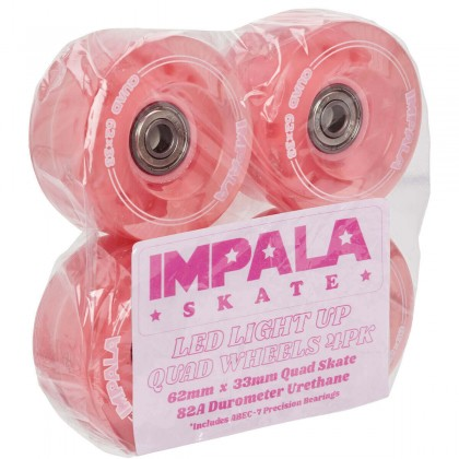 Impala Light Up Roller Skate Wheels (4pk) - Pink