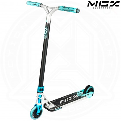 """MGP MGX E1 EXTREME 5.0"""" Scooter - Silver/Teal"""