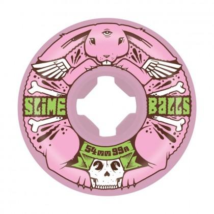 Slime Balls J. Fish Bunny Speed Balls Skateboard Wheels 54 mm (Pack of 4) - Multi